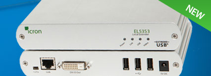 EL5353 DVI + USB 2.0 KVM Extender System up to 100m over single CAT 5e/6/7 cabling