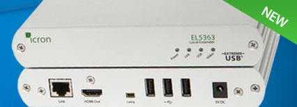 EL5363 HDMI + USB 2.0 KVM Extender up to 100m over a single CAT 5e/6/7 cabling
