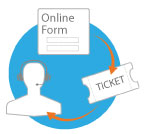 Fill online form to generate tech support ticket