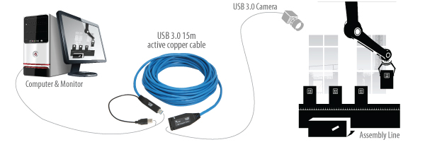 USB 3.0 Spectra 3001-15 (15m) active extension cable
