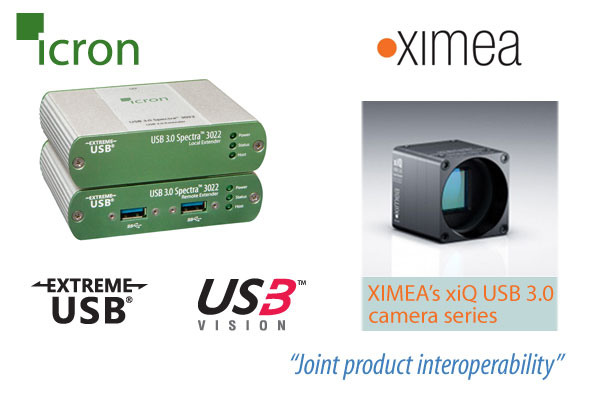 Icron and XIMEA joint product interoperability